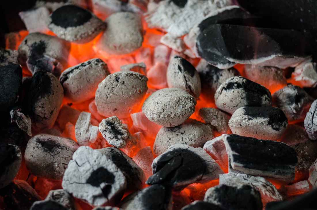 fire hot glowing barbecue
