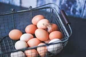 eggs in the metal basket