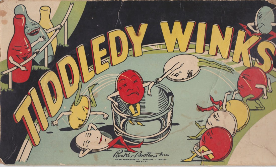 Papergreat: Top of an old box of Tiddledy Winks